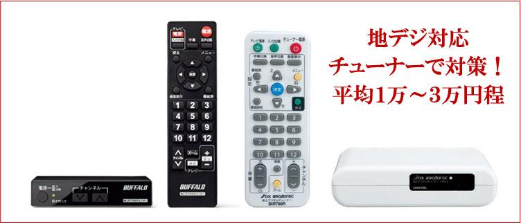 地デジ対応のテレビチューナー