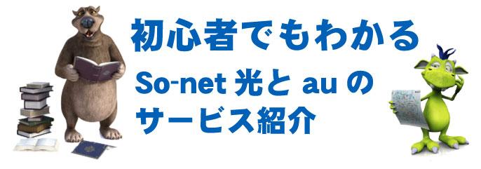 So-net光とauのサービス紹介