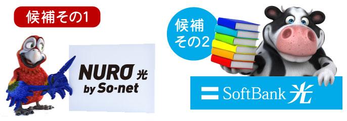 NURO光もしくはソフトバンク光