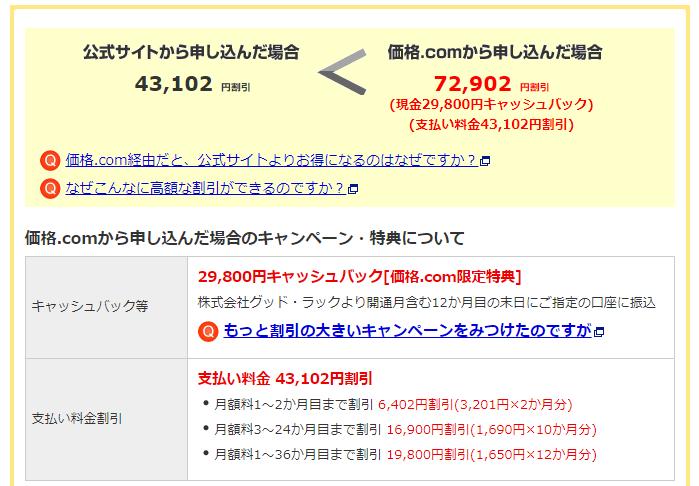 価格.comのモバレコAirプラン